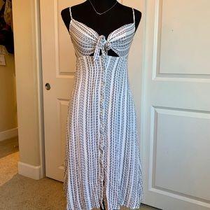 Button Up Midi Dress in Cream